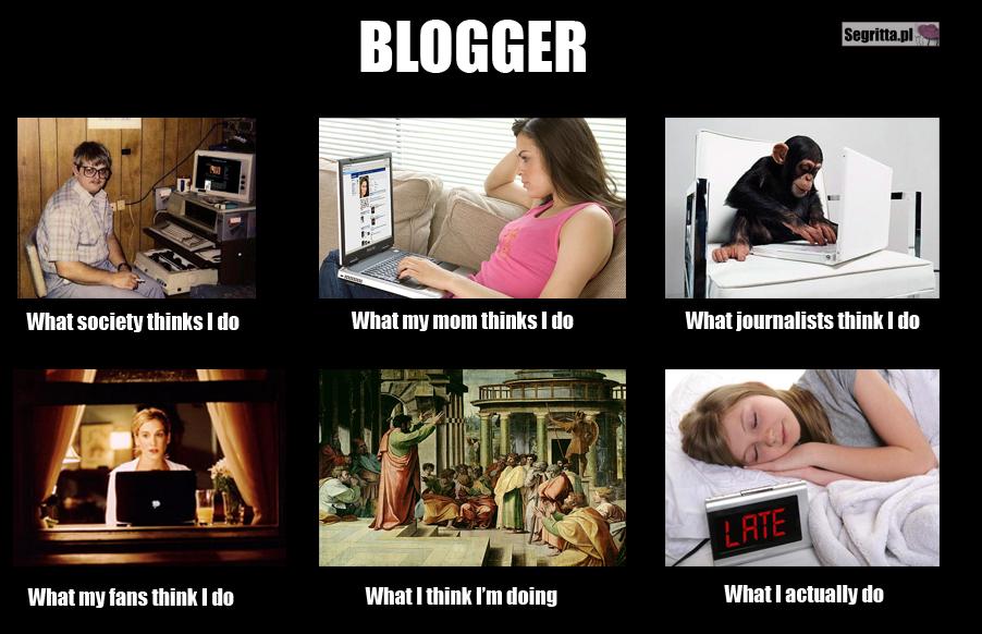 What I actually do - blogger