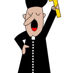 Blogerzy po konferencjach i kapłan Cenzary.