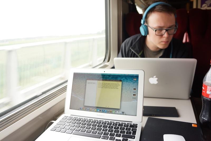 Paryską notkę pisałam w już w pociągu.