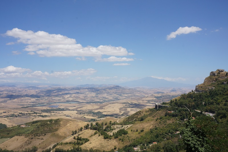 Widok na Etnę.