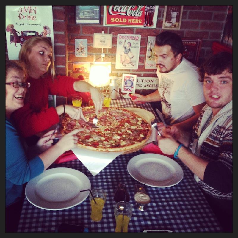 Największa pizza w Olsztynie.