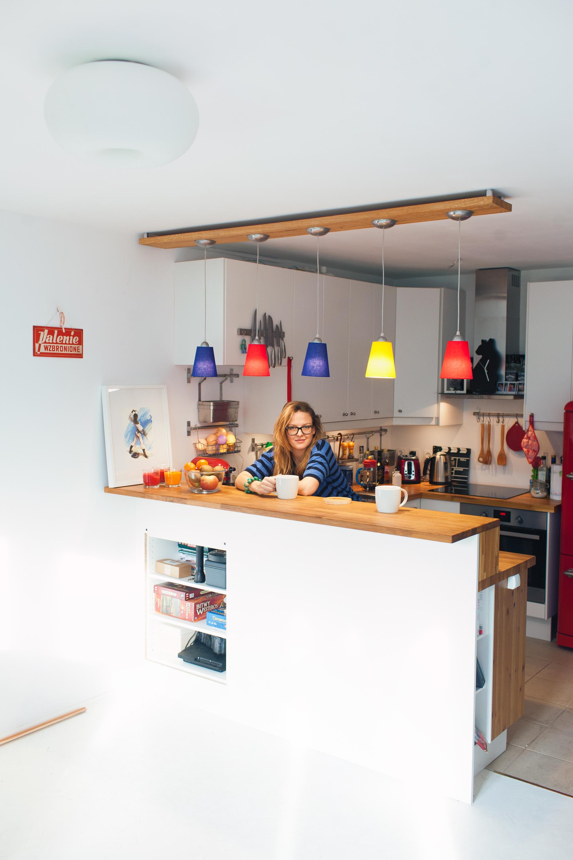 Moja kolorowa kuchnia z dębowym barkiem  Segritta pl -> Kuchnia Z Barkiem