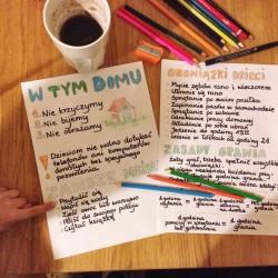 Regulamin domowy dla dzieci i rodziców