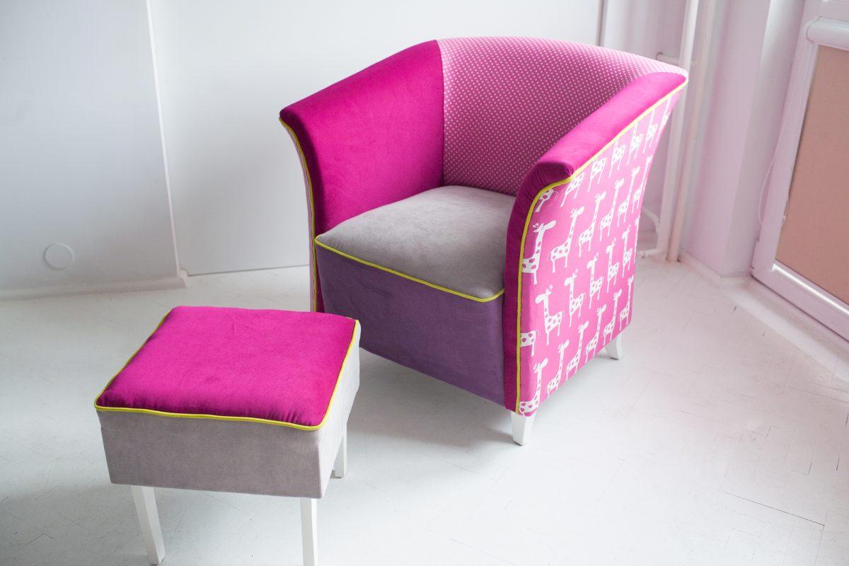 Różowy fotel - efekt końcowy :)