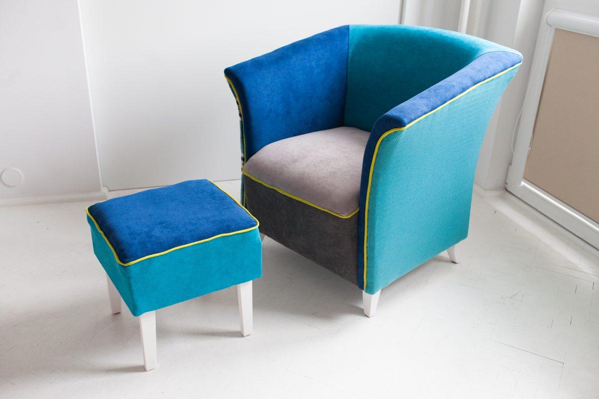 Niebieski fotel - efekt końcowy.
