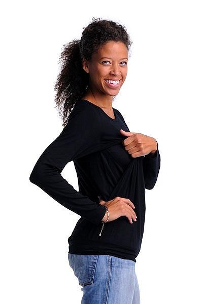 2. Czarna bluzka ciążowa i do karmienia Cool Mama